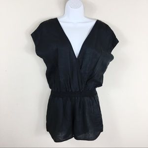 Three Dots Black Romper Size Small